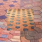 Brick or block paving.